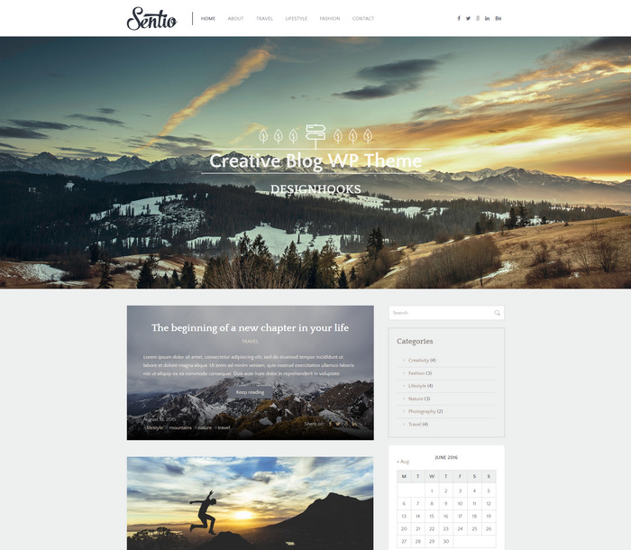 sentio writer wp blog theme