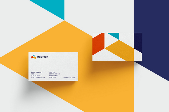 tracktion branding card