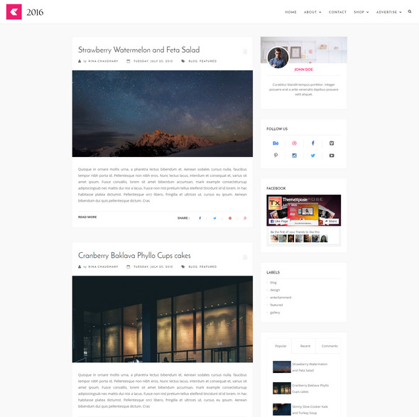 free Blogger Template 2018