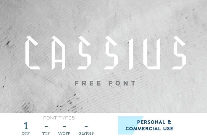 Cassius backletter logo font