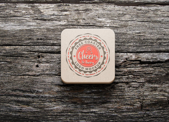 Coaster Logo Mockup for badges
