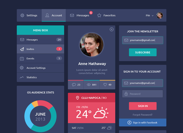 Flat-Design-UI-Components