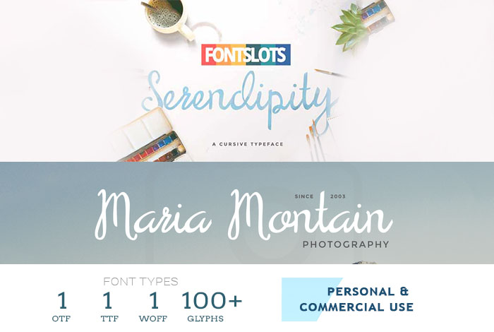 Serendipity Free script font
