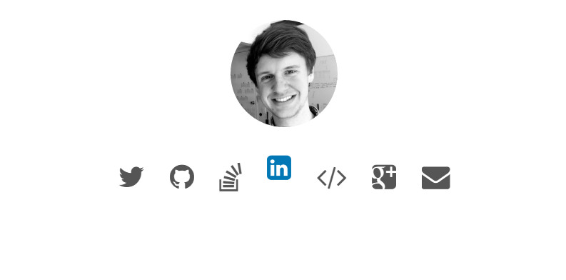 Social icon animation css and jquery