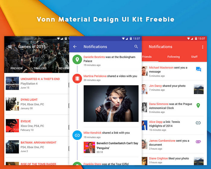 Vonn Material Design free