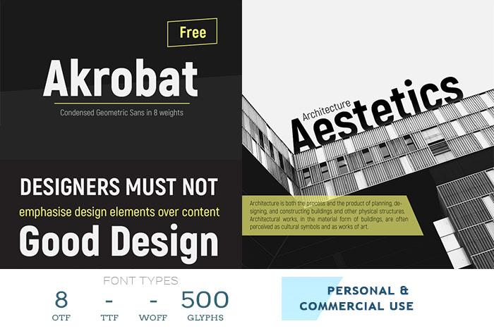 akrobat free sans serif font