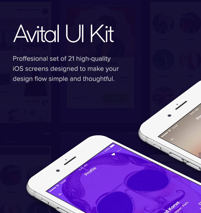 Avital Mobile UI Kit