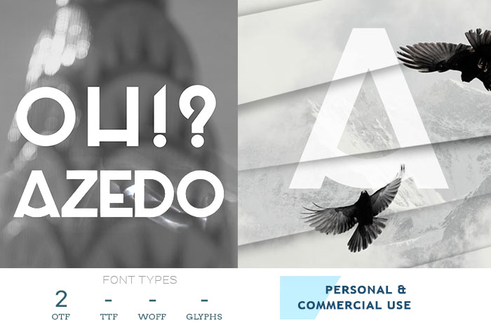 azedo free font for print designs