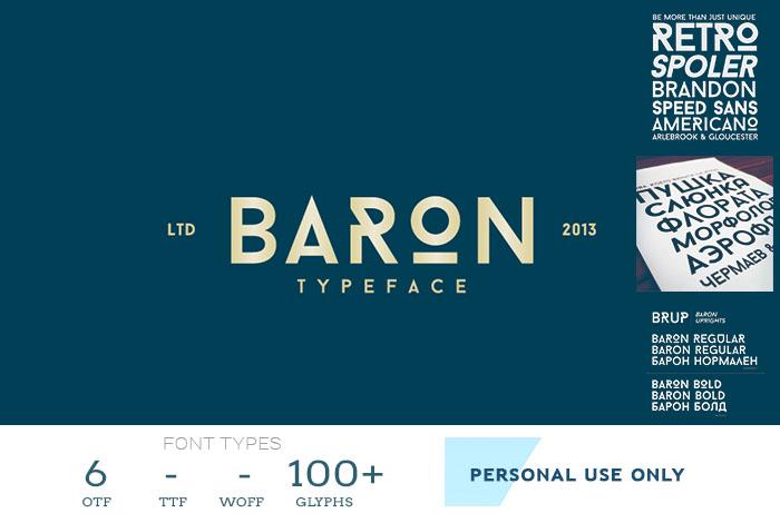 baron font
