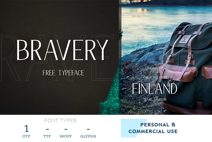 bravery business font for websites