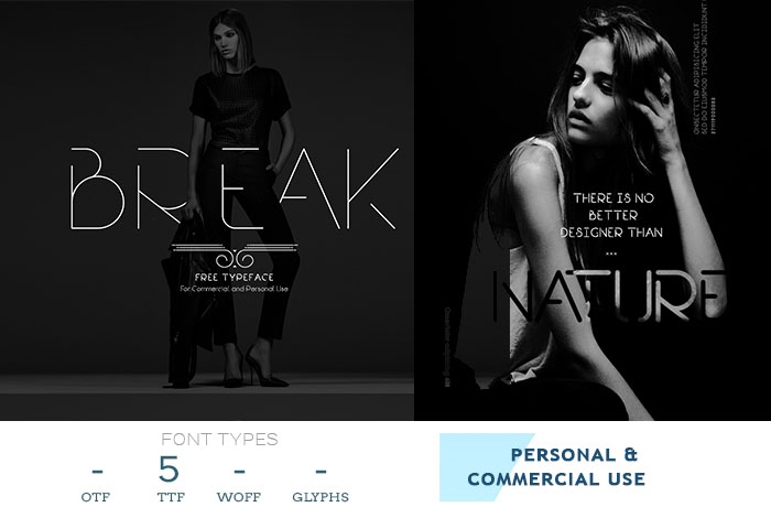 break free logo font for flyer design