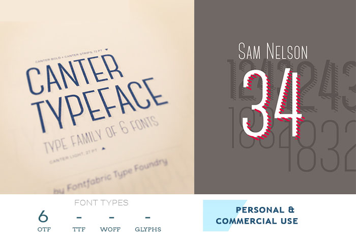 canter professional font