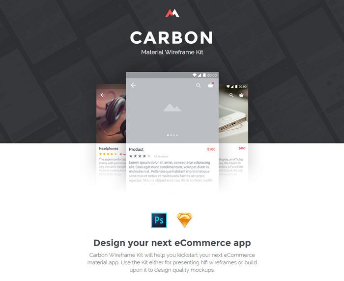 carbon mobile free ui kit