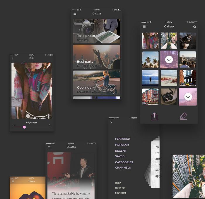 cards app kit for mobiles