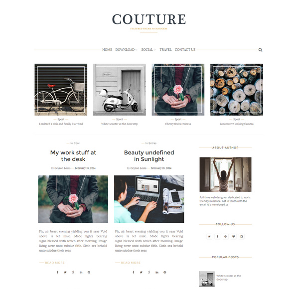 Couture Personal Blogger Template