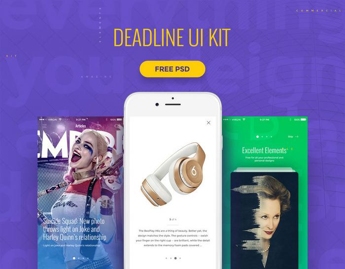 deadline - mobile ui kit