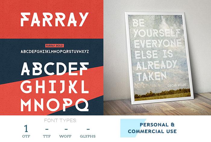 farray flyer font