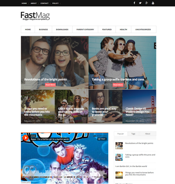 lightweight responsive blogger template for writers