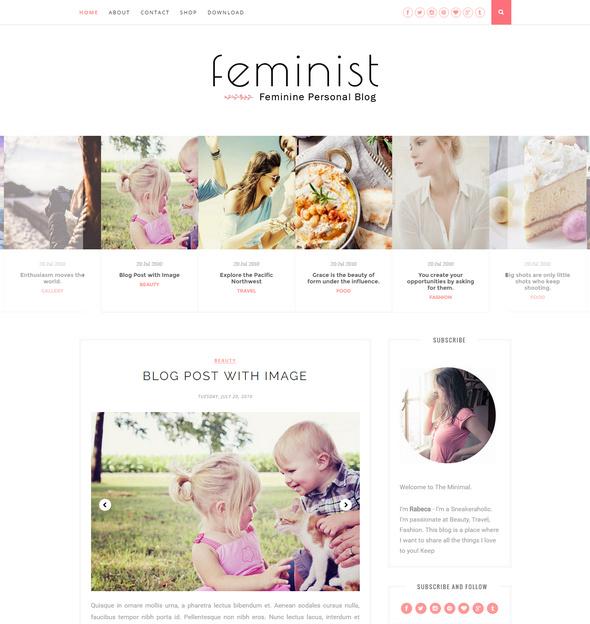 feminine Responsive Blogger Template