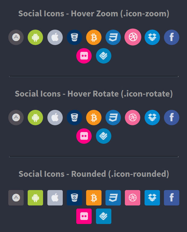 font awesome colored icons