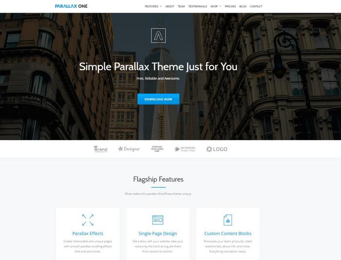 free parallax wp theme