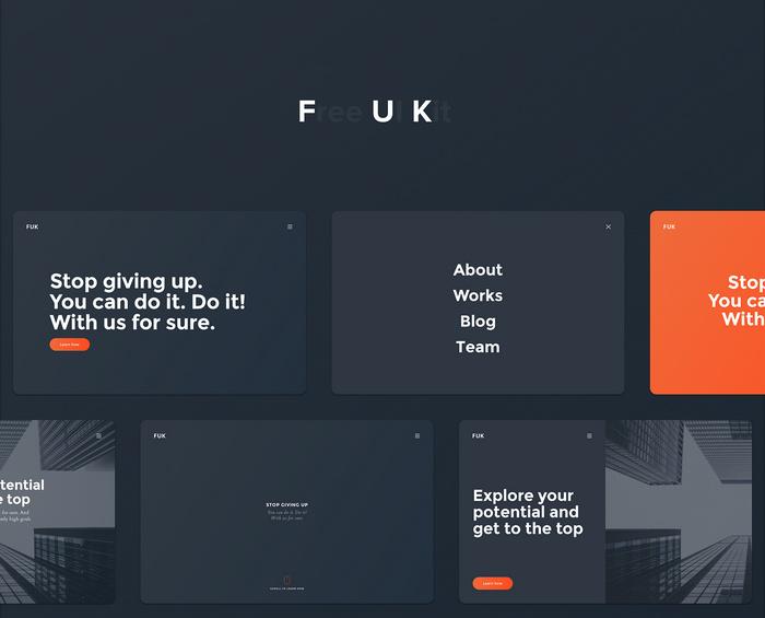 ui kit for free web design