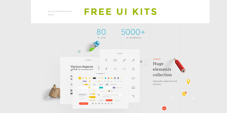 free flat ui kits for photoshop