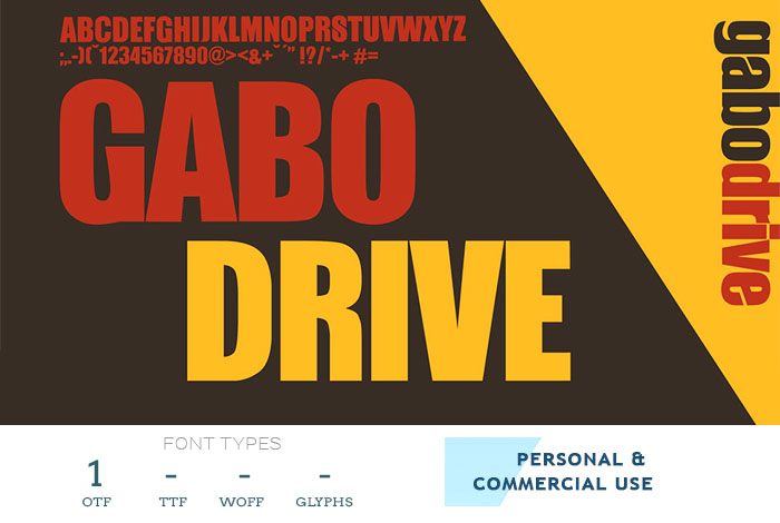 gabo drive - elegant free font