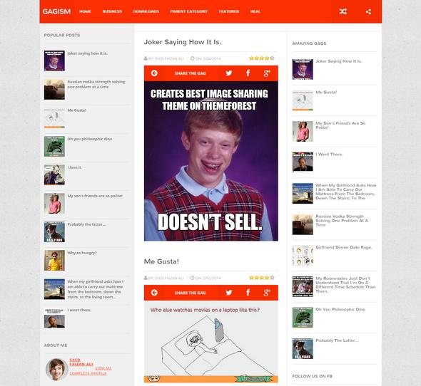 gagism website template for blogs