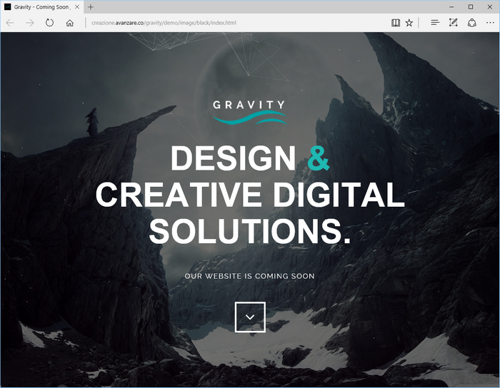 Gravity - A html template for website Under Construction