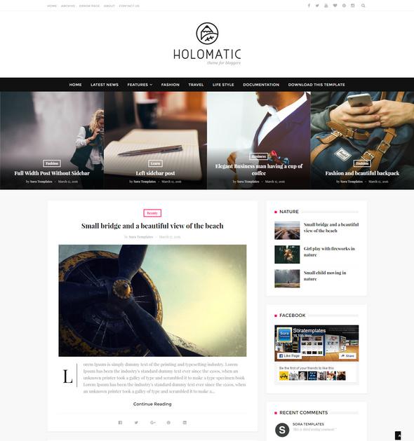 holomatic blog theme