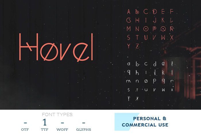 hovel modern business font