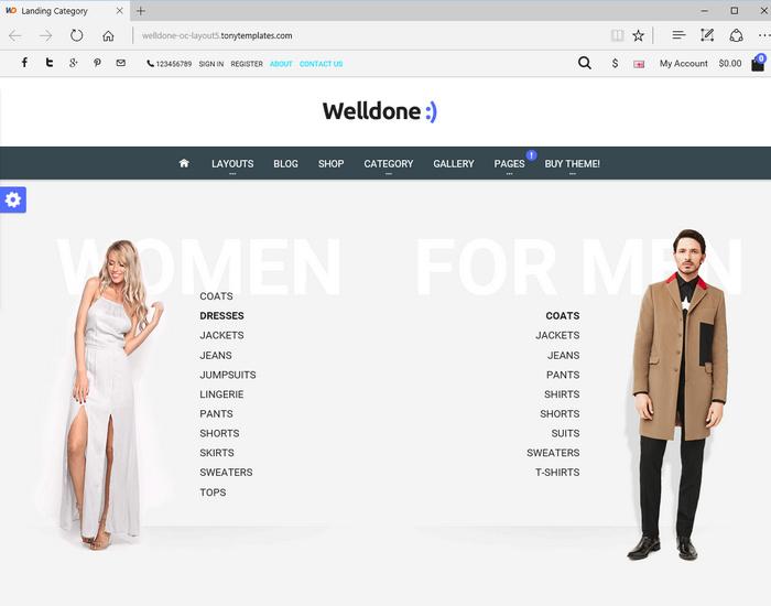 Welldone opencart 2.0 theme