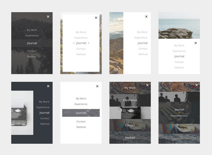 mobile menu free psd