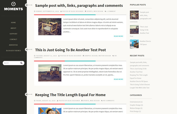 moments blog template