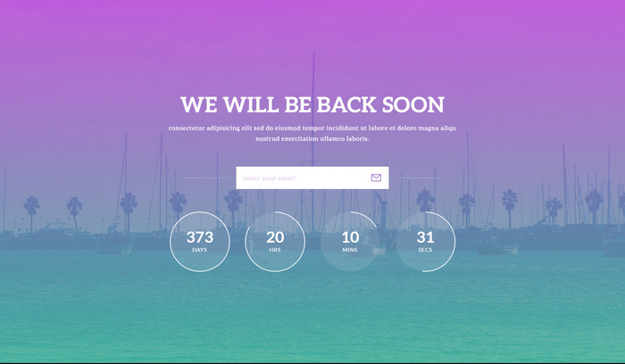 html5/css3 coming soon, under construction website template