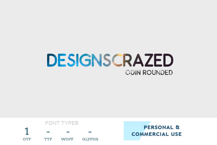 odin rounded - free business font
