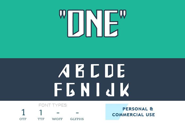 one truetype font