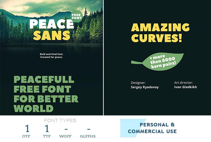 peace sans best web font