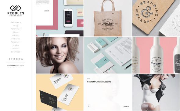 free responsive Portfolio Blogger Template