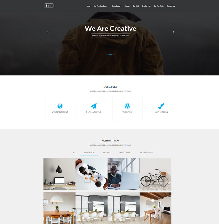 sima free business template