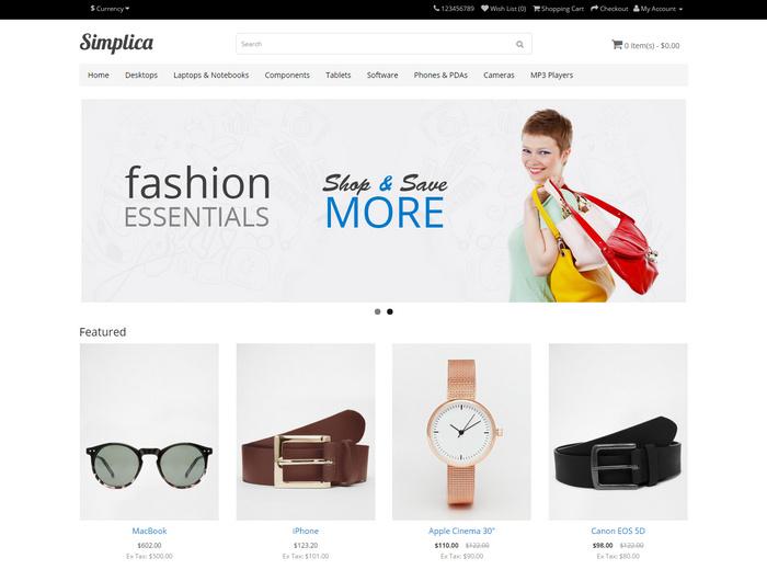 simplica free website template
