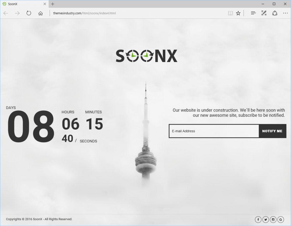 SoonX - Best website under construction Template
