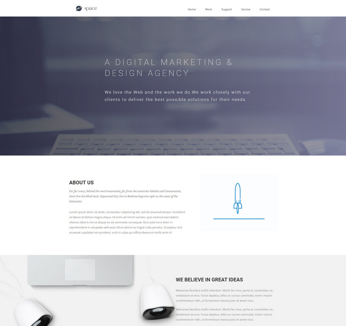 space agency free html template