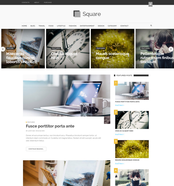 square free blogger template
