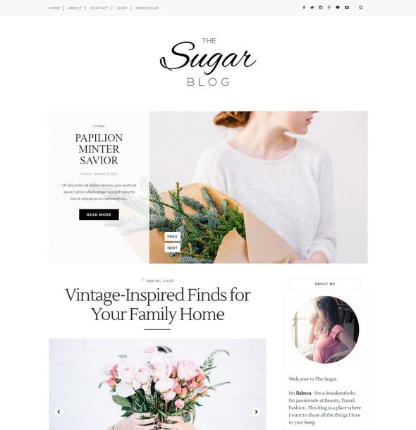 sugar blog theme