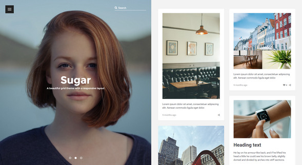 sugar portfolio - free tumblr themes
