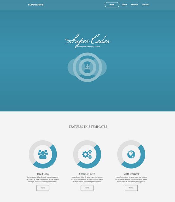 super cadas - business template for blogger