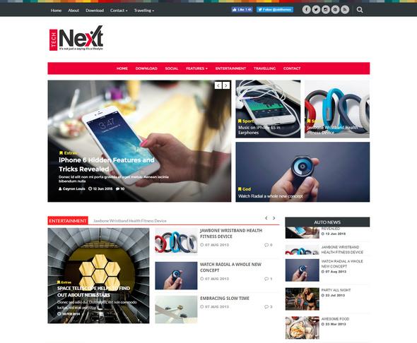 technext - free technology blogger templates