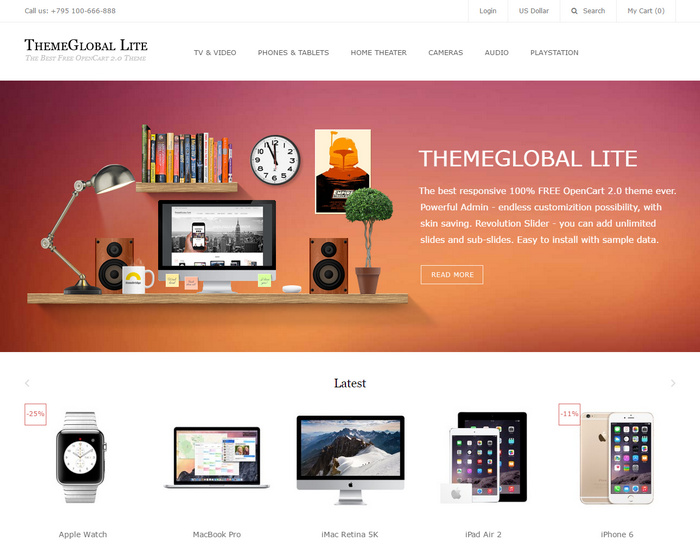 themelite for product store